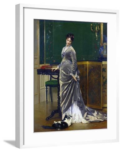 The Playful Cat-Gustave Leonard de Jonghe-Framed Art Print