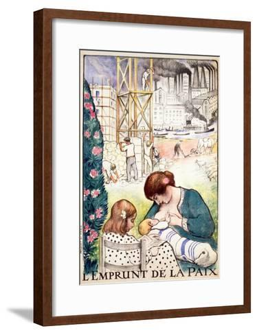 L'Emprunt De La Paix Pub. Paris C.1918-Henri Lebasque-Framed Art Print