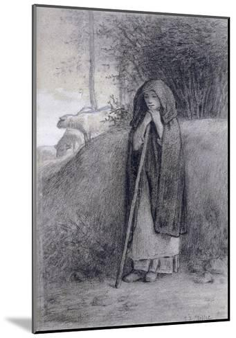Shepherdess-Jean-Fran?ois Millet-Mounted Giclee Print