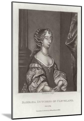 Barbara, Duchess of Cleveland-Sir Peter Lely-Mounted Giclee Print