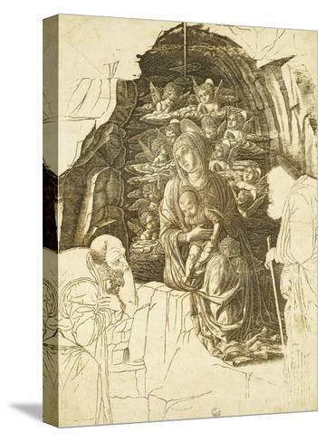 Study for Adoration of Magi-Andrea Mantegna-Stretched Canvas Print