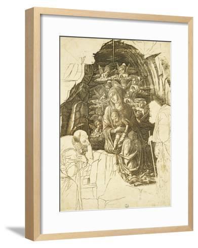 Study for Adoration of Magi-Andrea Mantegna-Framed Art Print