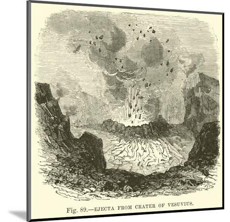 Ejecta from Crater of Vesuvius--Mounted Giclee Print