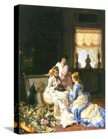 Girls with a Nest-Charles Baugniet-Stretched Canvas Print