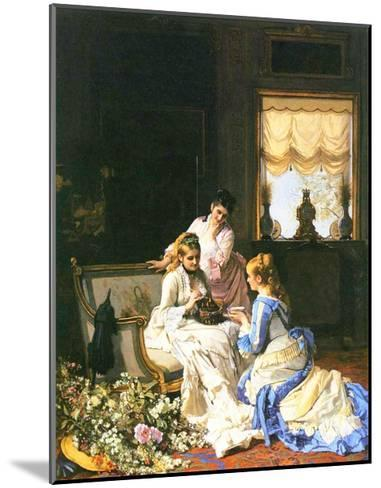 Girls with a Nest-Charles Baugniet-Mounted Giclee Print