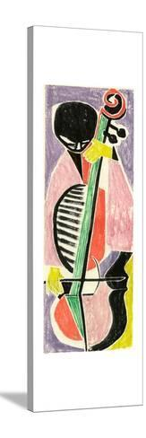 Playing the Cello-Anneliese Everts-Stretched Canvas Print