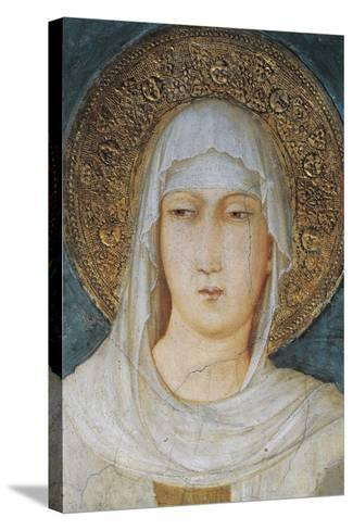 St Clare, 1318, Frescoes, Simone Martini--Stretched Canvas Print