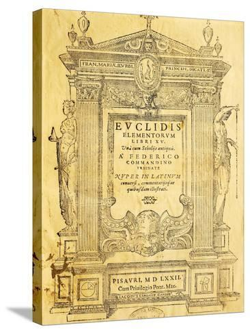 Title Page of Elementa- Euclid-Stretched Canvas Print