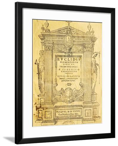 Title Page of Elementa- Euclid-Framed Art Print