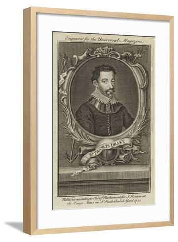 Sir Francis Drake--Framed Art Print