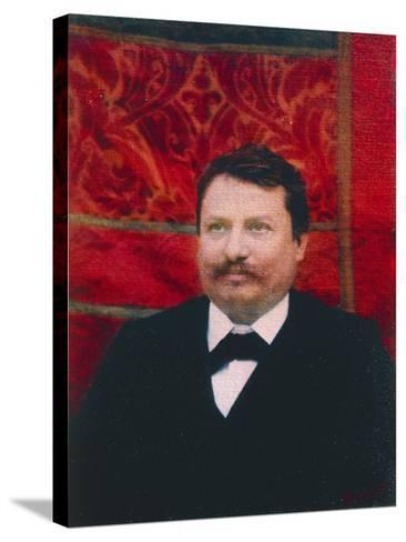 Portrait of Giovanni Pascoli--Stretched Canvas Print