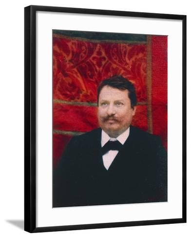 Portrait of Giovanni Pascoli--Framed Art Print