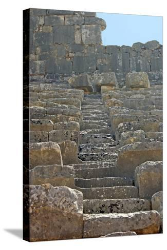 Steps of the Xanthos Theatre, Xanthos, Turkey--Stretched Canvas Print