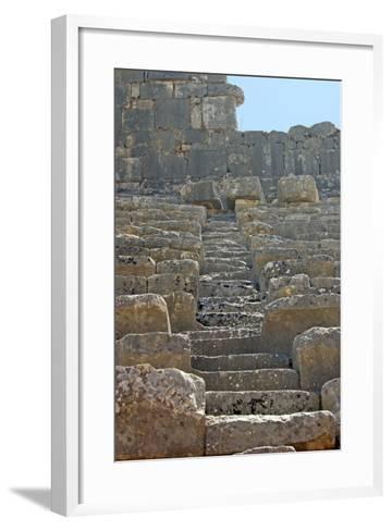 Steps of the Xanthos Theatre, Xanthos, Turkey--Framed Art Print