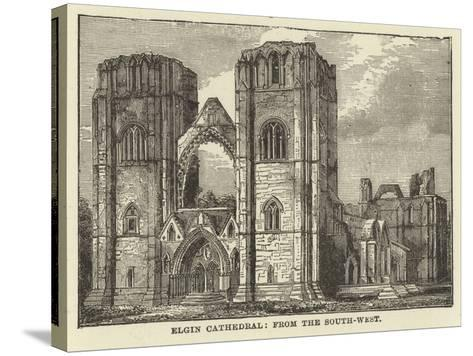 Elgin Cathedral, from the South West--Stretched Canvas Print