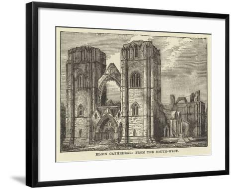 Elgin Cathedral, from the South West--Framed Art Print