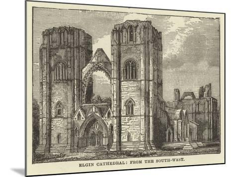 Elgin Cathedral, from the South West--Mounted Giclee Print