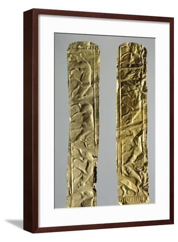 Gold Foils with Figures of Animals--Framed Art Print