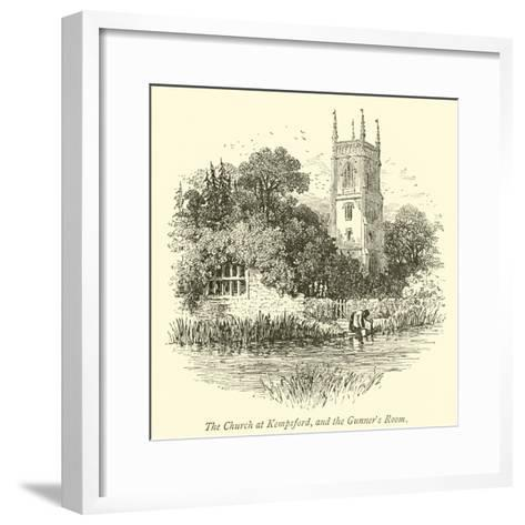 The Church at Kempsford, and the Gunner's Room--Framed Art Print