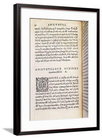 Physics by Aristotle--Framed Art Print