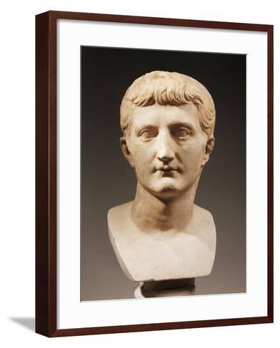 Head of Emperor Caligula--Framed Art Print