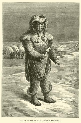 Eskimo Woman of the Adelaide Peninsula--Stretched Canvas Print