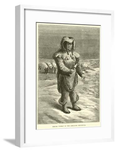 Eskimo Woman of the Adelaide Peninsula--Framed Art Print