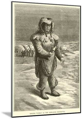 Eskimo Woman of the Adelaide Peninsula--Mounted Giclee Print