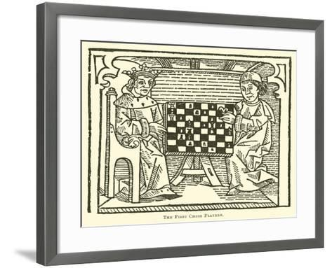 The First Chess Players--Framed Art Print