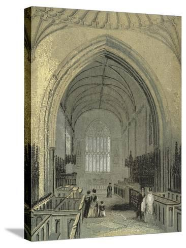 St Asaph's Cathedral, the Choir--Stretched Canvas Print