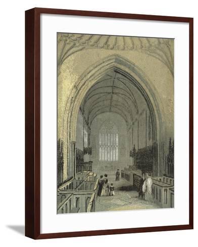 St Asaph's Cathedral, the Choir--Framed Art Print