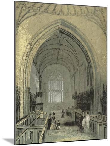 St Asaph's Cathedral, the Choir--Mounted Giclee Print