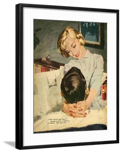 Illustration from Magazine, 1959--Framed Art Print