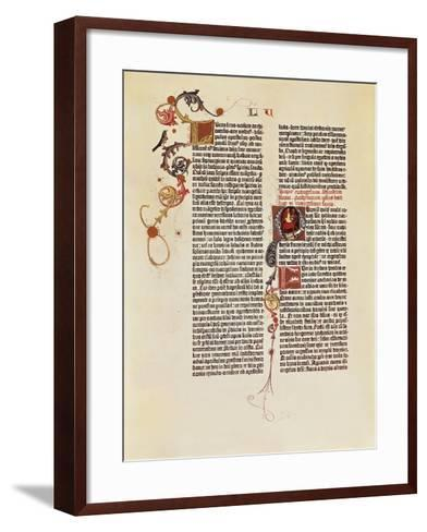 Page of the Bible of 42 Lines--Framed Art Print