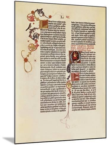 Page of the Bible of 42 Lines--Mounted Giclee Print