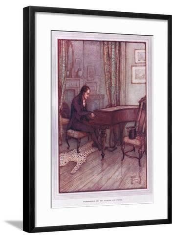 Thrumming on My Friend A's Piano-Sybil Tawse-Framed Art Print