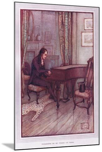 Thrumming on My Friend A's Piano-Sybil Tawse-Mounted Giclee Print