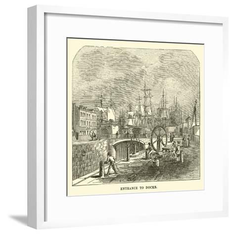 Entrance to Docks--Framed Art Print