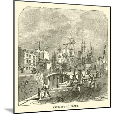 Entrance to Docks--Mounted Giclee Print