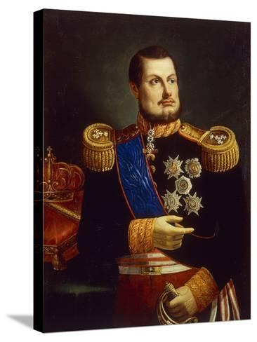 Portrait of Ferdinand II of Two Sicilies--Stretched Canvas Print