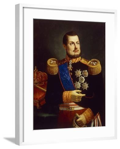 Portrait of Ferdinand II of Two Sicilies--Framed Art Print
