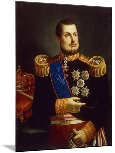 Portrait of Ferdinand II of Two Sicilies--Mounted Giclee Print