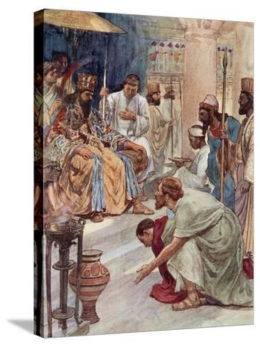 Themistocles at the Persian Court-William Rainey-Stretched Canvas Print