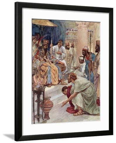 Themistocles at the Persian Court-William Rainey-Framed Art Print