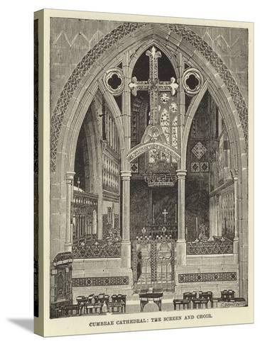 Cumbrae Cathedral, the Screen and Choir--Stretched Canvas Print