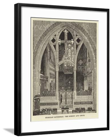 Cumbrae Cathedral, the Screen and Choir--Framed Art Print