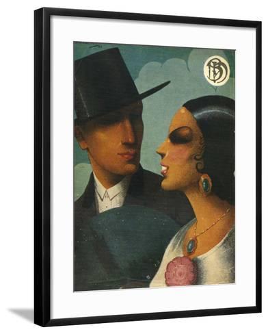 Illlustration from 'Blanco Y Negro', 1920s--Framed Art Print