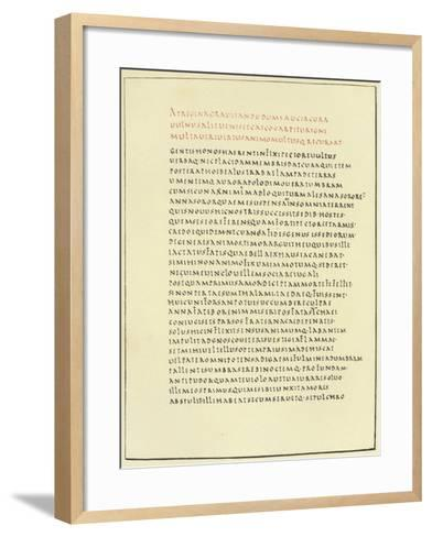 Page from the Florence Virgil--Framed Art Print