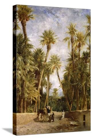 Oasis at Lagrount-Eugene Fromentin-Stretched Canvas Print