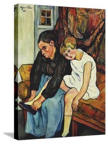 Grandmere Chaussant Une Fillette, 1931-Suzanne Valadon-Stretched Canvas Print